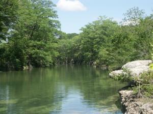 Blanco River in River Oaks